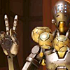 orbislife: screenshot of Zenyatta's peace sign victory pose (Peace be upon you)
