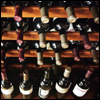gramarye1971: Bottles of wine displayed in racks (Wine)