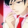 skyfyre: Ootori Kyouya looks inquisitive (I wonder...?)