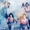 shinyjenni: The four ghostbusters heading into battle (ghostbusters into battle)