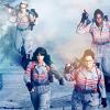 shinyjenni: The four ghostbusters heading into battle (ghostbusters into battle)