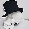 fiery_flamingo: stock: top hat skull (top hat)