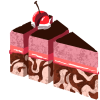 sugarslicer: its a cake slice with a cherry cut into 3 more slices (default) (Default)