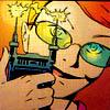 feyandstrange: Batgirl admiring a taser (taser)