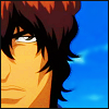 imlithing: half of chad's face on blue sky bg (chad srs face)