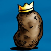 k1ngp0tat0: A potato with impeccable shading and a nifty crown on top (King Potato)