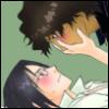 imlithing: chad & ishida blushing, green bg (sadoishi)