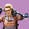 glinda: Holtzmann from Ghosbusters with a big gun over her shoulders (ghostbuster)
