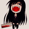 spiralicious: Girl with bloody saw (Frustration)