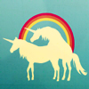spiralicious: Unicorns with a Rainbow (Unicorns)