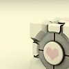 tirsden: Portal companion cube of love (companion cube)
