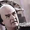 proudambassador: Londo Mollari looking to the side, faded colors. Caption reads 'Mollari.' (Faded)