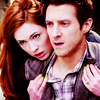 "kaffyr: Amy and Rory from ""Let's Kill Hitler"" (Ponds on wheels)"