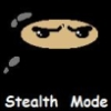 lackingstealth: Picture of a ninja whose mask blends into the background, though their eyes are still visible; captioned 'Stealth Mode' (stealth mode)