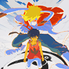 possiblyevil: kid and avatar from summer wars (strike a pose)