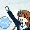 wistfuljane: tohru (fruits basket) going yay! (\o/)