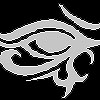 strange_radio: stylized eye of horus (silver eye)