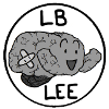 lb_lee: A happy little brain with a bandage on it, surrounded by a circle and the words LB Lee. (#59428217)