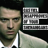 babybluesteel: (Castiel Disapproves of your Shenanigans)