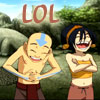 silverthunder: (Aang and Toph - LOL)