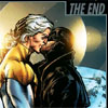 muccamukk: Apollo and the Midnighter kissing in space. Text: The End. (DC: The End)