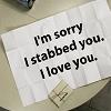 memester: (stabby love)