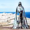 annariel: Picture of a statue of King Arthur at Tintagel (Arthuriana)
