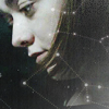 longwhitecoats: Arya Stark looking down, a constellation superimposed (Arya constellation)