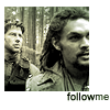 "northern: Ronon and John walking in a forest. text: ""follow me"" (sga follow)"