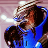 valengrey: Garrus looking over his shoulder. (garrus - lookin' back)