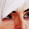 valengrey: Closeup of Fenris' eyes gazing up. (fenris - closeup eyes peering upwards)