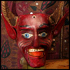 klgaffney: A painted wooden devil mask ('tween the devil and the deep blue sea.)