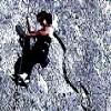 cofax7: me on a rock wall climbing (Indian Springs)