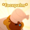 "celestialdescent: Image: Mama Odie from The Princess and the Frog hitting her hand against her forehead with the word ""facepalm"" on top. (disbelief)"