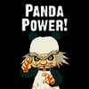 "celestialdescent: Image: Sheng from the Harvest Moon series makes an angry pose; the phrase ""Panda Power!"" is above his head. (cracktastic)"