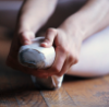 barre_none: (taking a rest pointe shoe)