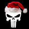 naamah_darling: The Punisher skull wearing a Santa hat. (Christmas Punisher)
