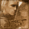 "naamah_darling: Sepia picture of Heath Ledger from A Knight's Tale with the words ""I Miss You."" (Heath Miss You)"