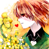 rynet_ii: Chara, with Flowey and a bunch of buttercups. (Fallen Child)