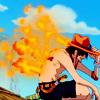 emesis: one piece: ace (burn burn baby;)