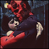 sotto_voce: Hellboy and Liz Sherman hugging ([hellboy] heard your voice)