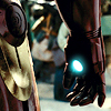 sotto_voce: closeup on Iron Man's right hand, the repulsor in the palm glowing blue. ([iron man] PEACE OUT!)