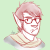 halforcnationalist: A drawing of me as an orc, kinda glaring at the viewer. (default) (Default)