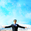 daphnie_1: Tony Stark  with his arms sretched out 'cause that's how he roles. (Marvel | Tony | I do what  I like)