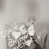 """daphnie_1: Black and white picture of Amy smiling with the text: """"Could I be any more excited?"""" scrawled over her. (DW 