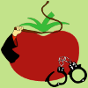 sunnymodffa: one-armed tomato with handcuffs and whip (Kinktomato)