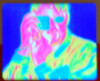 dracodraconis: Thermogram of me taking a picture of the thermal imaging camera (thermogram)