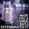 mycatsellsclues: I dunno who made this, so credit if it's yours. (dalek cookie)