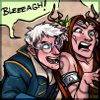 jetpack_monkey: Keyleth and Percy (of Critical Role) pretend to be monsters (Keyleth & Percy - Goofballs)