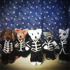 turlough: MCR as knitted kitties in Black Parade uniforms, all by me ((mcr art) the black (cat) parade)